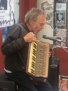 Pete and his accordion