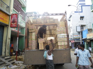 Boxes on Truck